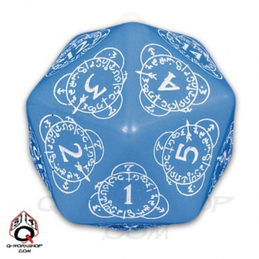 K20 Licznik Poziomów Do Gier Karcianych Niebiesko-biała