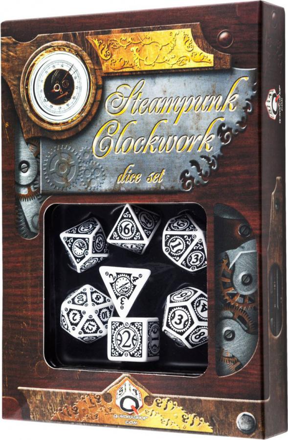 Komplet Steampunk - Clockwork - Biało-czarny