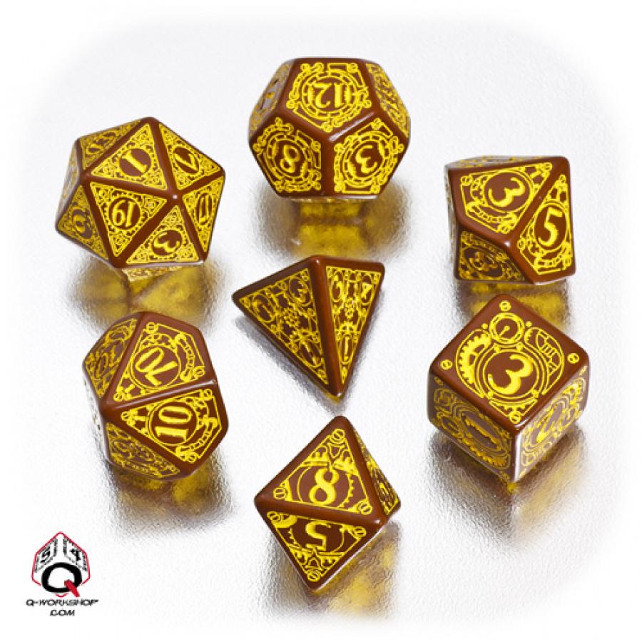 Komplet Steampunk - Brązowo-żółty