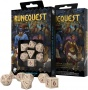 Komplet kości RuneQuest RPG: Beżowo-bordowy