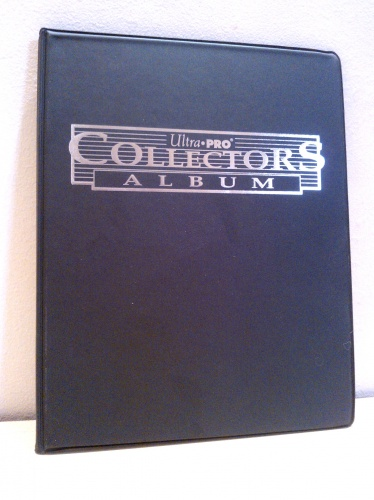 Collectors Card Album 10x9 czarny Silver
