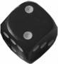 Kość matowa 6 Ścian - 10mm - Oczka - Czarny