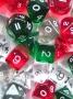 Kość kryształowa 10 Ścian (setka) - Cyfry - Różne Kolory