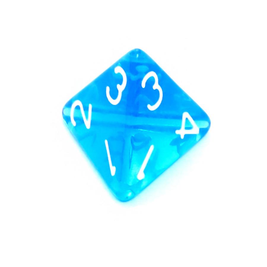 Kość REBEL kryształowa 4 Ściany - Cyfry - Niebieska