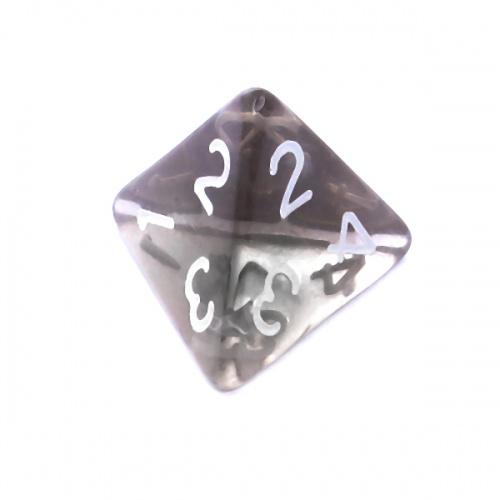 Kość REBEL kryształowa 4 Ściany - Cyfry - Czarna