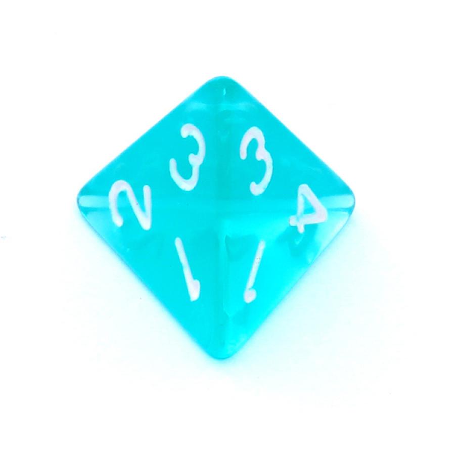 Kość REBEL kryształowa 4 Ściany - Cyfry - Błękitna