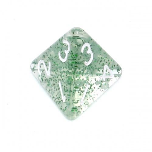 Kość REBEL brokatowa 4 Ściany - Cyfry - Zielona