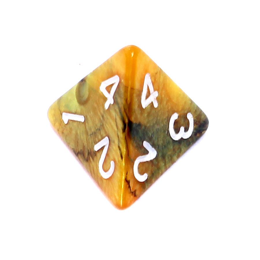 Kość REBEL dwukolorowa 4 Ściany - Cyfry - Czarno-złota