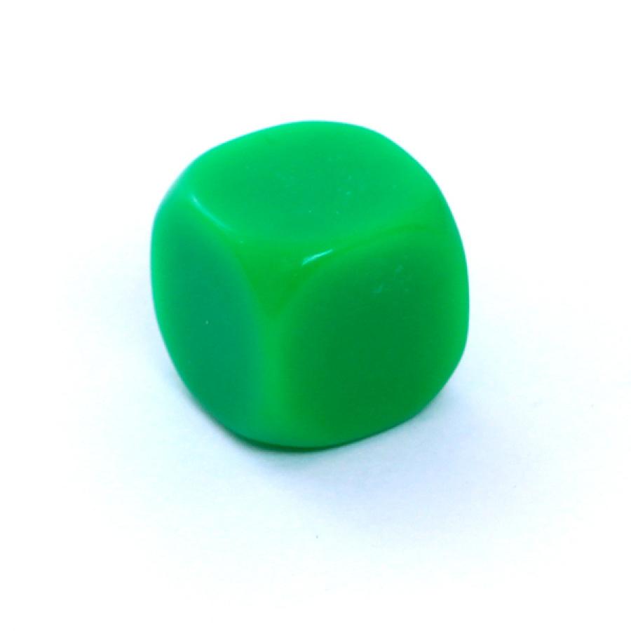 Kość REBEL matowa 6 Ścian - 16 mm - Bez symboli - Zielona