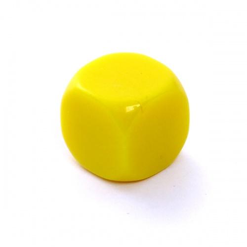 Kość REBEL matowa 6 Ścian - 16 mm - Bez symboli - Żółta