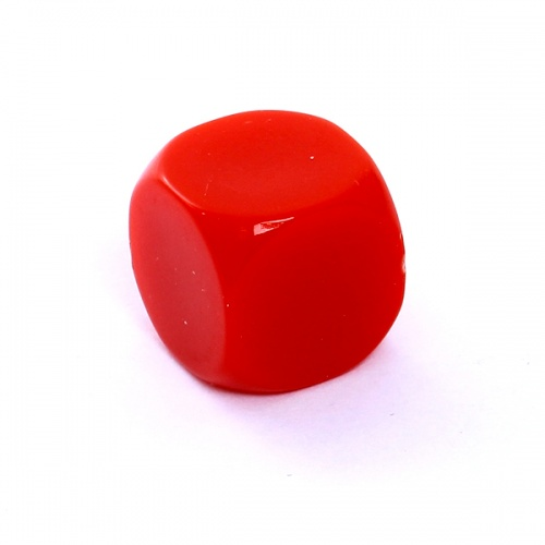 Kość REBEL matowa 6 Ścian - 16 mm - Bez symboli - Czerwona