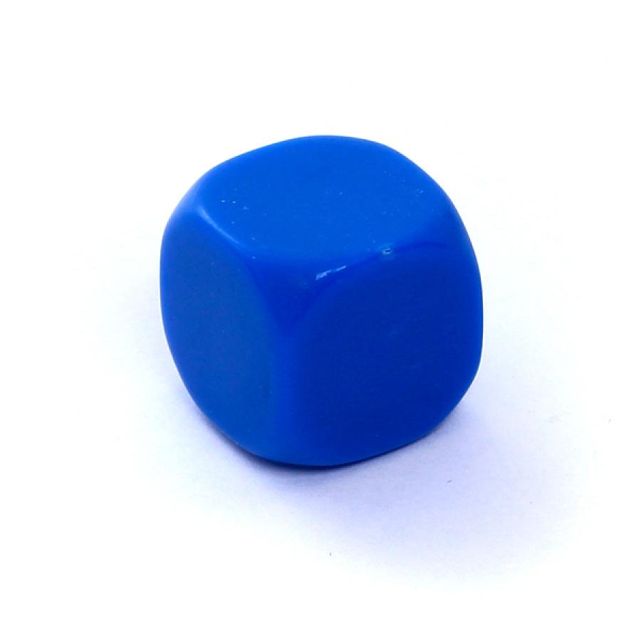 Kość REBEL matowa 6 Ścian - 16 mm - Bez symboli - Niebieska