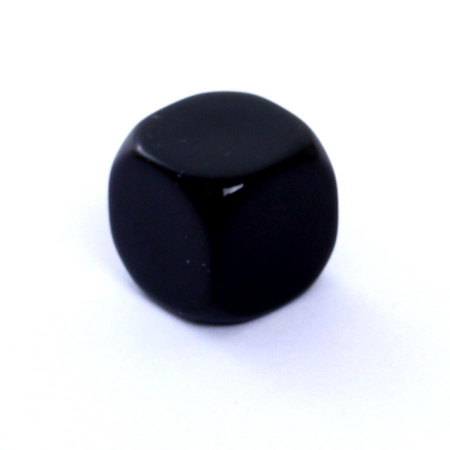 Kość REBEL matowa 6 Ścian - 16 mm - Bez symboli - Czarna