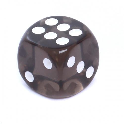 Kość REBEL kryształowa 6 Ścian - 16 mm - Oczka - Czarna