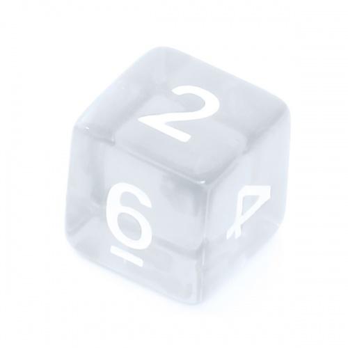 Kość REBEL kryształowa 6 Ścian - Cyfry - Przezroczysta