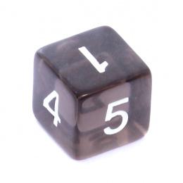 Kość REBEL kryształowa 6 Ścian - Cyfry - Czarna
