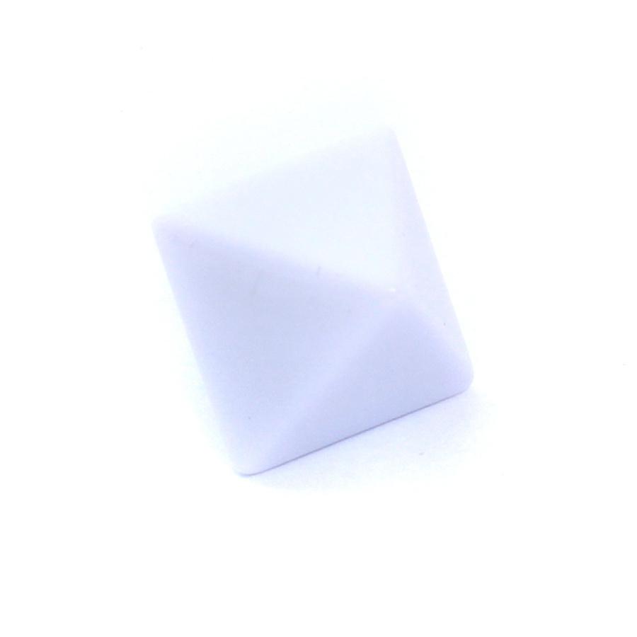 Kość REBEL matowa 8 Ścian - 18 mm - Bez symboli - Biała