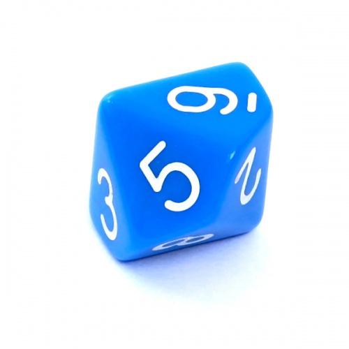 Kość REBEL matowa 10 Ścian - Cyfry - Niebieska