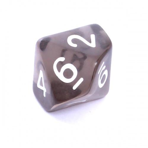 Kość REBEL kryształowa 10 Ścian - Cyfry - Czarna