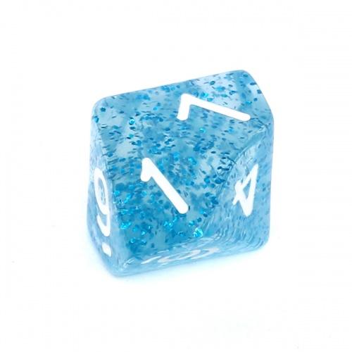 Kość REBEL brokatowa 10 Ścian - Cyfry - Niebieska