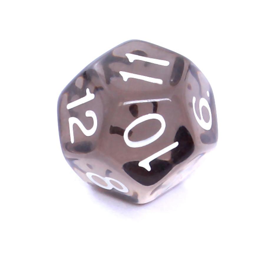 Kość REBEL kryształowa 12 Ścian - Cyfry - Czarna