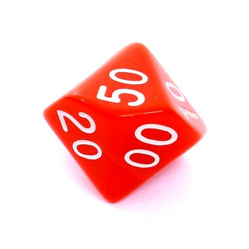 Kość REBEL matowa 10 Ścian (setka) - Cyfry - Czerwona