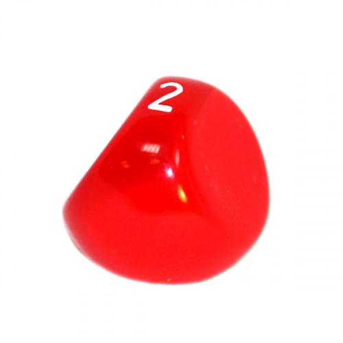 Kość REBEL matowa 3 Ściany - Cyfry - Czerwona