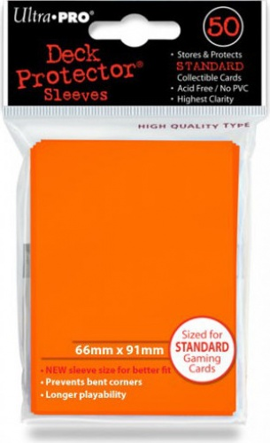 ULTRA-PRO Deck Protector - Solid Orange (Pomarańczowe) 50