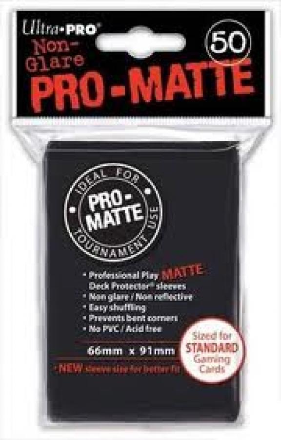 ULTRA-PRO Deck Protector - Pro-Matte Non-Glare Black (Czarne) 50 szt.