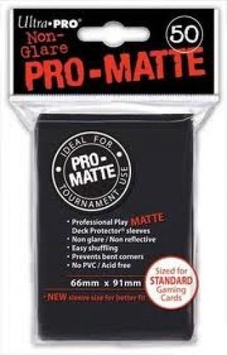 ULTRA-PRO Deck Protector - Pro-Matte Non-Glare Black (Czarne) 50