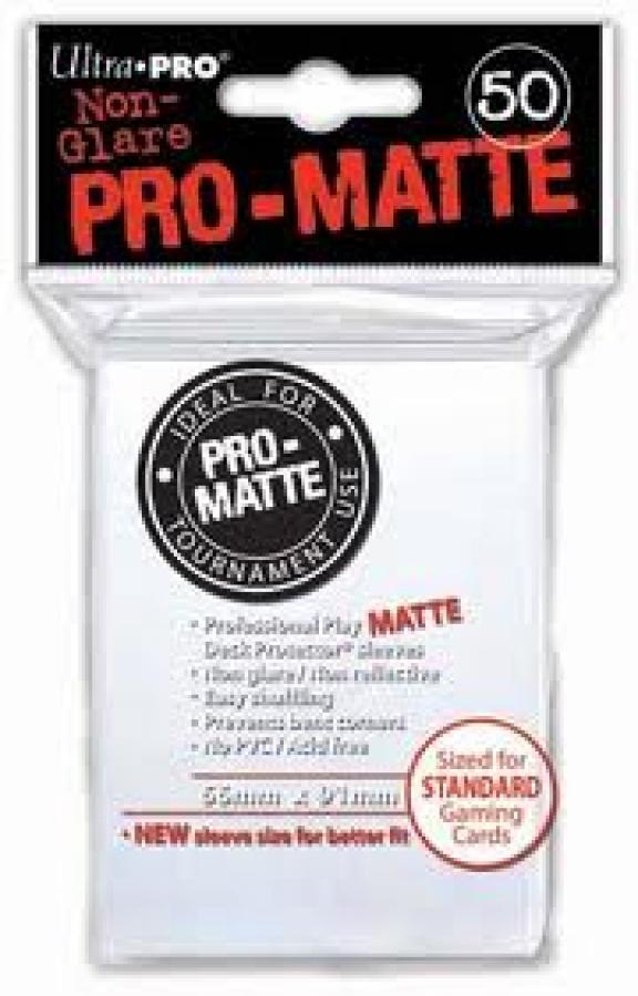 ULTRA-PRO Deck Protector - Pro-Matte Non-Glare White (Białe) 50