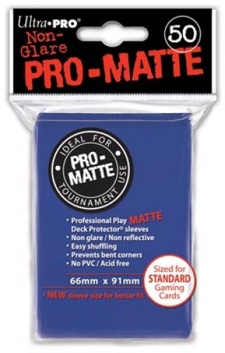 ULTRA-PRO Deck Protector - Pro-Matte Non-Glare Blue (Niebieskie) 50 szt.