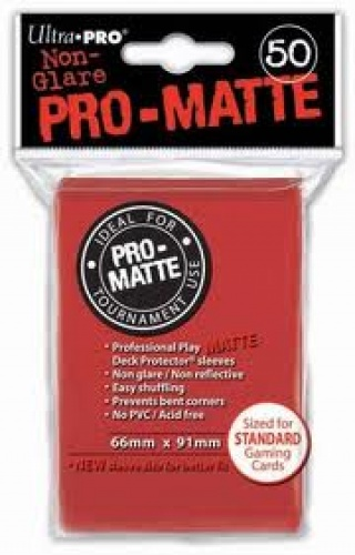 ULTRA-PRO Deck Protector - Pro-Matte Non-Glare Red (Czerwone) 50 szt.