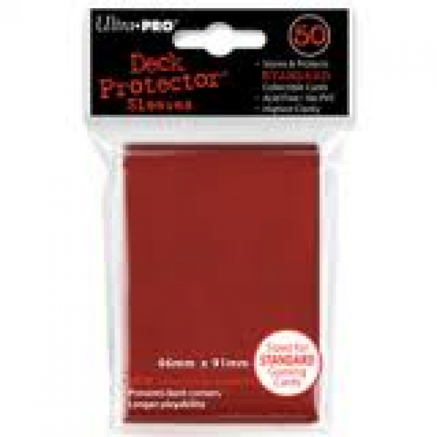 ULTRA-PRO Deck Protector - Solid Red (Czerwone) 50 szt.