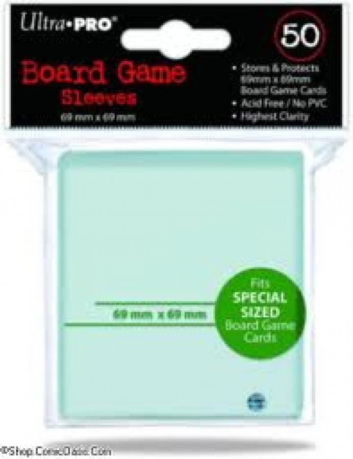 ULTRA-PRO Board Game Sleeves - Square Standard 69x69mm 50
