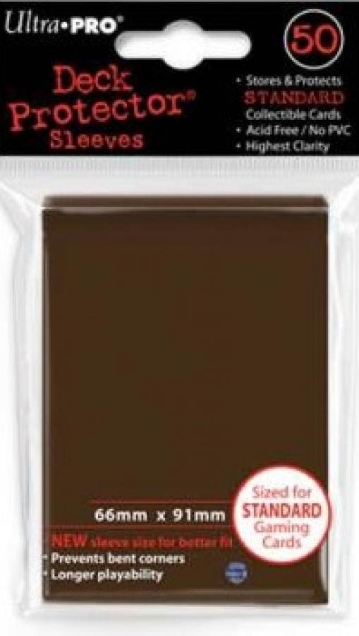 ULTRA-PRO Deck Protector - Solid Brown (Brązowe) 50 szt.