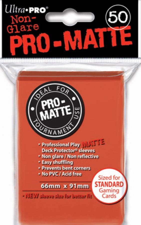 ULTRA-PRO Deck Protector - Pro-Matte Non-Glare Peach (Brzoskwiniowe) 50