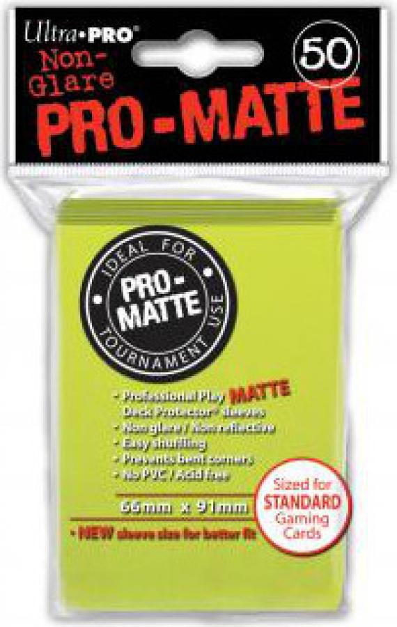 ULTRA-PRO Deck Protector - Pro-Matte Non-Glare Bright Yellow (Jasnożółte) 50