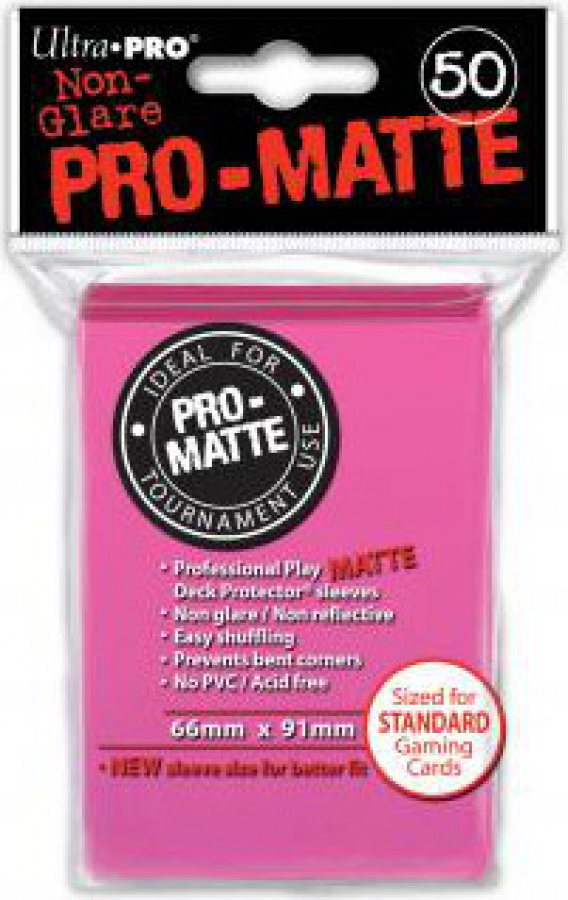 ULTRA-PRO Deck Protector - Pro-Matte Non-Glare Bright Pink (Jasnoróżowe) 50 szt.