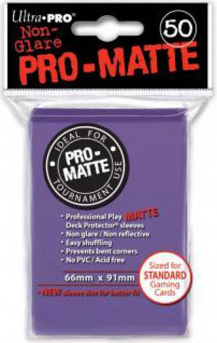 ULTRA-PRO Deck Protector - Pro-Matte Non-Glare Purple (Fioletowe) 50 szt.