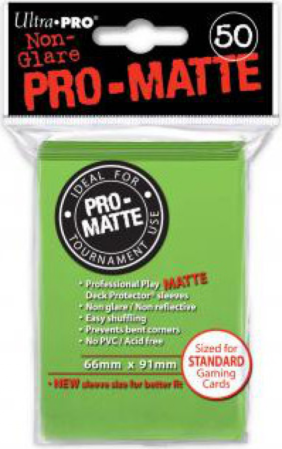 ULTRA-PRO Deck Protector - Pro-Matte Non-Glare Lime Green (Limonkowy) 50