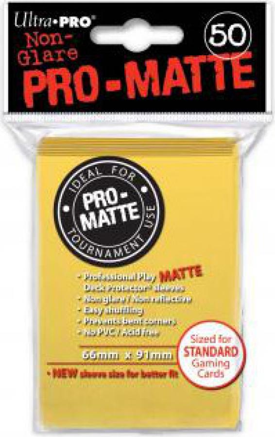 ULTRA-PRO Deck Protector - Pro-Matte Non-Glare Yellow (Żółte) 50