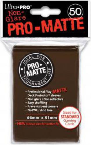 ULTRA-PRO Deck Protector - Pro-Matte Non-Glare Brown (Brązowe) 50 szt.