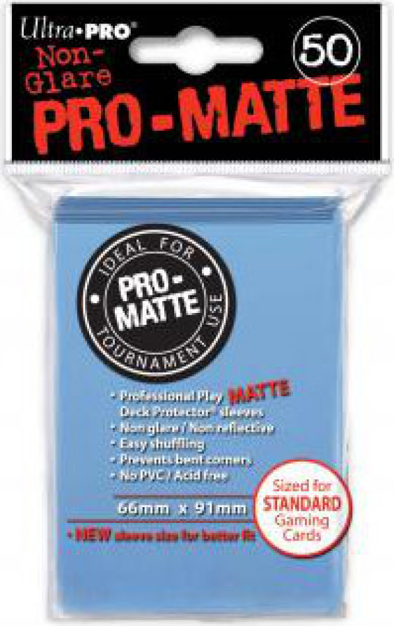 ULTRA-PRO Deck Protector - Pro-Matte Non-Glare Light Blue (Jasnoniebieski) 50