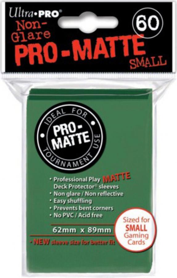 ULTRA-PRO Deck Protector - Pro-Matte Non-Glare Small Green (Zielone) 60