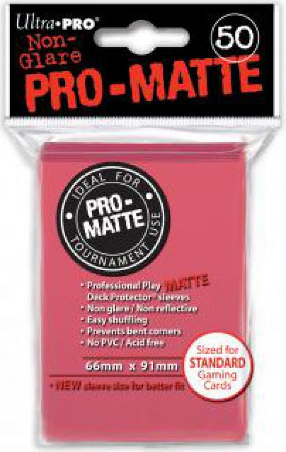 ULTRA-PRO Deck Protector - Pro-Matte Non-Glare Fuchsia (Fuksjowe) 50