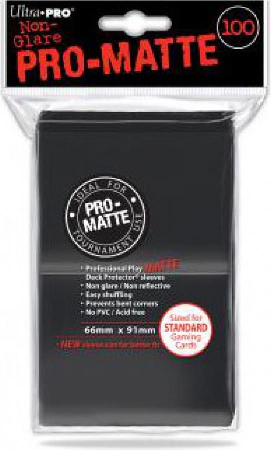 ULTRA-PRO Deck Protector - Pro-Matte Non-Glare Black (Czarne) 100