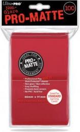 ULTRA-PRO Deck Protector - Pro-Matte Non-Glare Red (Czerwone) 100