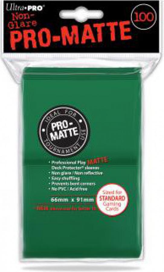 ULTRA-PRO Deck Protector - Pro-Matte Non-Glare Green (Zielone) 100