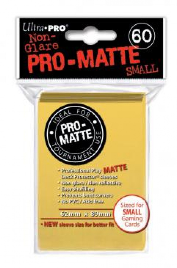 ULTRA-PRO Deck Protector Pro-Matte SMALL Yellow (żółte)